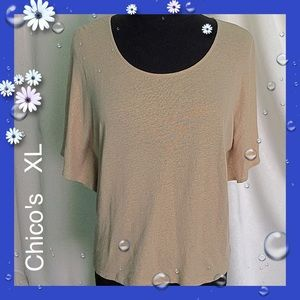 Chico's / Size 3 (XL) Gold Top